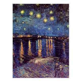Van Gogh Noche estrellada sobre el Rhone arte de Tarjetas Postales