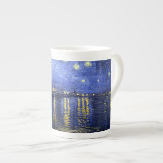 Van Gogh: Noche estrellada sobre el Rhone Taza De Porcelana