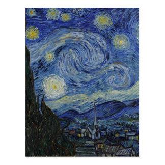 Van Gogh - noche estrellada Tarjetas Postales