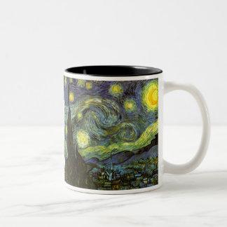 Van Gogh: Noche estrellada Taza Dos Tonos