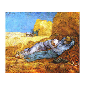 Van Gogh: Noon Rest from Work Stretched Canvas Print