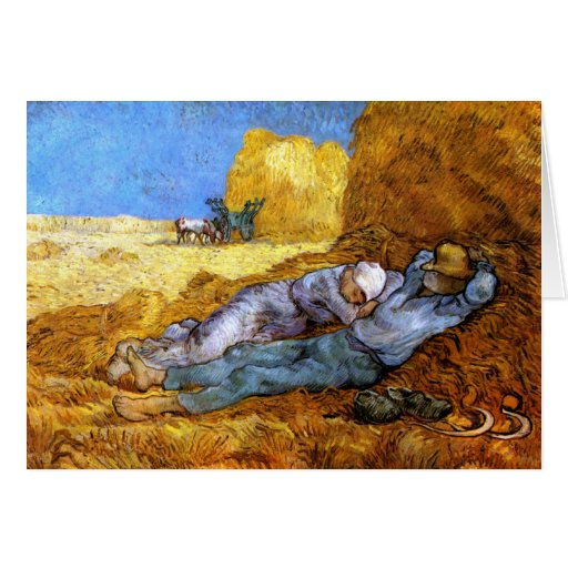 Van Gogh: Noon Rest from Work Card