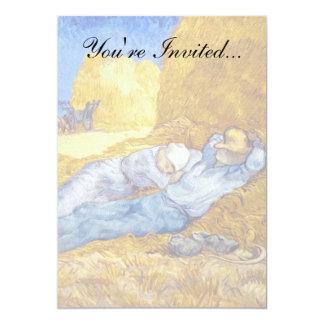 Van Gogh - Noon Rest From Work Card