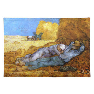 Van Gogh: Noon Rest from Work Cloth Placemat