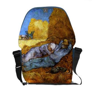 Van Gogh: Noon Rest from Work Messenger Bag