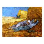 Van Gogh: Noon Rest from Work Postcard
