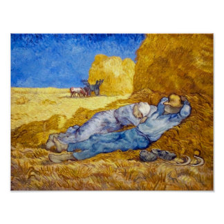 Van Gogh - Noon Rest From Work Poster
