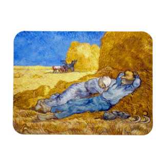 Van Gogh - Noon Rest From Work Flexible Magnets