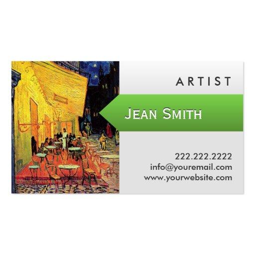 Van gogh oil painting artist business card zazzle for Painting artist business cards