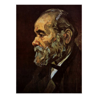 Van Gogh, Old Man with Beard, Vintage Portrait Poster