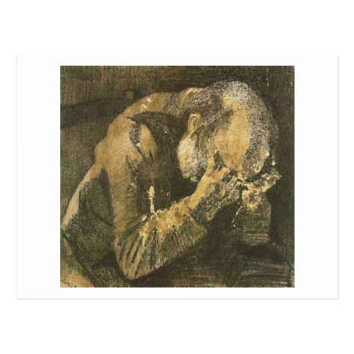 Van Gogh Old Man with Head in Hands (F998) Post Card
