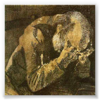 Van Gogh Old Man with Head in Hands (F998) Poster