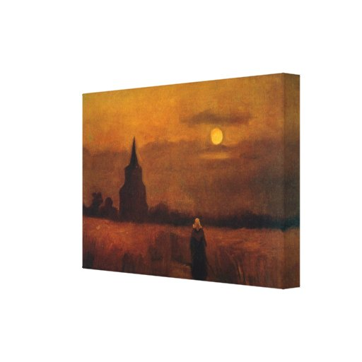 Van Gogh; Old Tower In The Fields, Vintage Farm Canvas Print