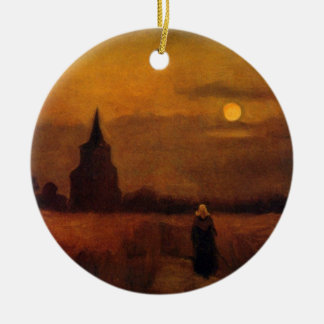 Van Gogh Old Tower In The Fields, Vintage Fine Art Ceramic Ornament