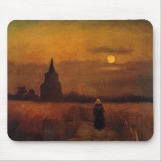 Van Gogh Old Tower In The Fields, Vintage Fine Art Mouse Pad