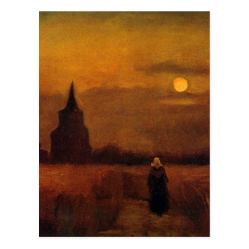 Van Gogh Old Tower In The Fields Vintage Fine Art Postcard
