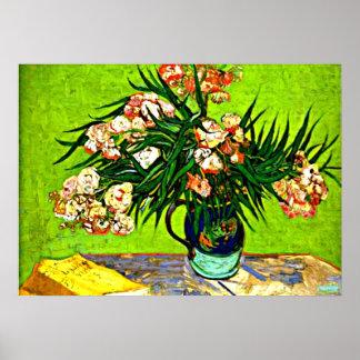 Van Gogh - Oleanders and Books Poster