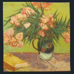 "Van Gogh Oleanders Napkins<br><div class=""desc"">Van Gogh Oleanders napkins. Oil painting on canvas from 1888. Vincent Van Gogh stands as on of Western art's great still life flower painters. Oleanders is one of Van Gogh's most beautiful flower paintings, featuring a bouquet of oleanders in a small navy vase with bronze handle. The oleander blossoms are...</div>"