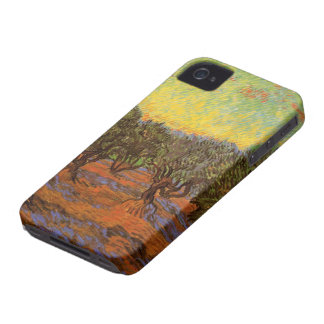 Van Gogh Olive Grove Orange Sky, Vintage Fine Art iPhone 4 Case-Mate Case