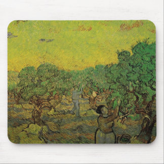 Van Gogh Olive Grove Picking Figures, Fine Art Mouse Pad