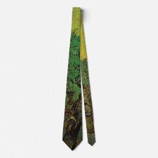 Van Gogh Olive Grove Picking Figures, Vintage Art Tie