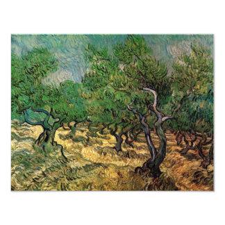 "Van Gogh Olive Grove, Vintage Landscape Fine Art 4.25"" X 5.5"" Invitation Card"