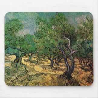 Van Gogh Olive Grove, Vintage Landscape Fine Art Mouse Pad