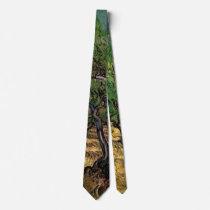 Van Gogh Olive Grove, Vintage Landscape Fine Art Tie