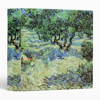 Van Gogh Olive Grove, Vintage Trees Fine Art Binder