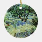 Van Gogh Olive Grove, Vintage Trees Fine Art Ceramic Ornament
