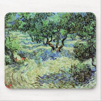 Van Gogh Olive Grove, Vintage Trees Fine Art Mouse Pad