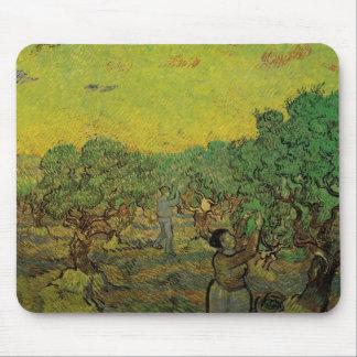 Van Gogh Olive Grove w Picking Figures Vintage Art Mouse Pads