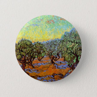 Van Gogh - Olive Grove with Orange Sky Button