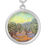 Van Gogh - Olive Grove with Orange Sky Jewelry