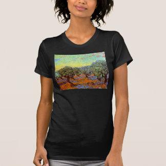 Van Gogh - Olive Grove with Orange Sky T-Shirt