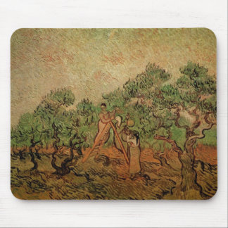 Van Gogh Olive Picking, Vintage Fine Art Mouse Pad