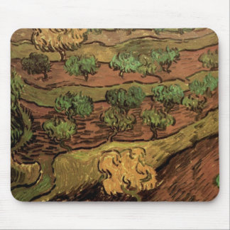 Van Gogh Olive Trees Against a Slope of a Hill Mouse Pad