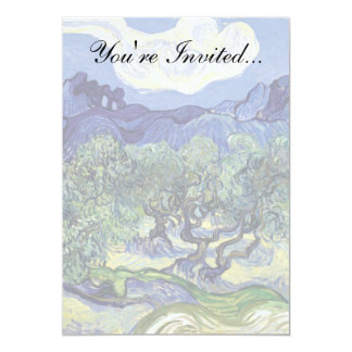 Van Gogh - Olive Trees In A Mountainous Landscape 5x7 Paper Invitation Card