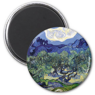Van Gogh - Olive Trees In A Mountainous Landscape Refrigerator Magnet