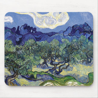 Van Gogh - Olive Trees In A Mountainous Landscape Mouse Pad