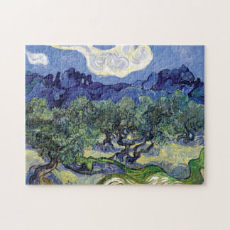 Van Gogh - Olive Trees In A Mountainous Landscape Jigsaw Puzzle
