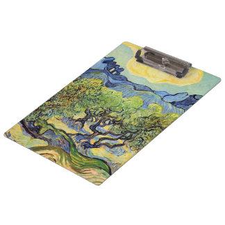 Van Gogh Olive Trees, Vintage Fine Art Clipboard