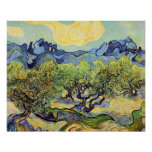 Van Gogh Olive Trees, Vintage Landscape Art Posters