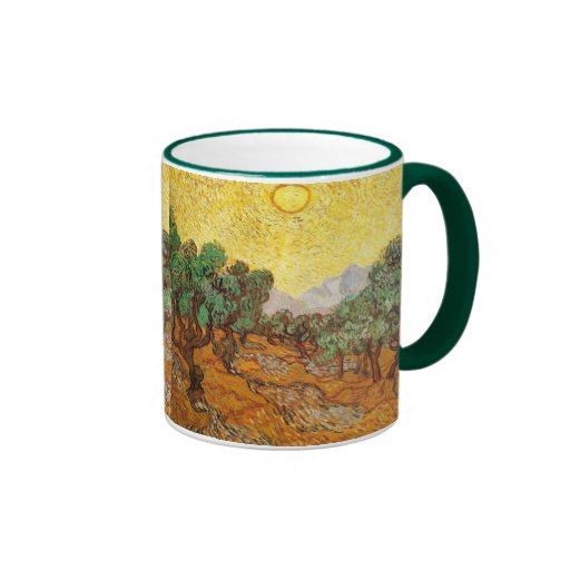 Van Gogh Olive Trees Yellow Sky & Sun (F710) Coffee Mug
