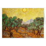 Van Gogh Olive Trees Yellow Sky & Sun (F710) Stationery Note Card