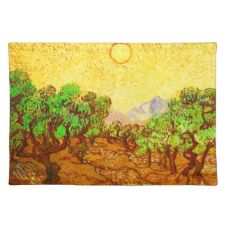 Van Gogh Olive Trees Yellow Sky & Sun Place Mat