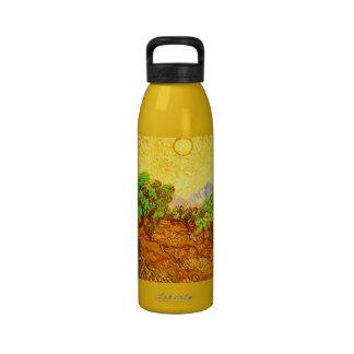 Van Gogh Olive Trees Yellow Sky & Sun Reusable Water Bottles