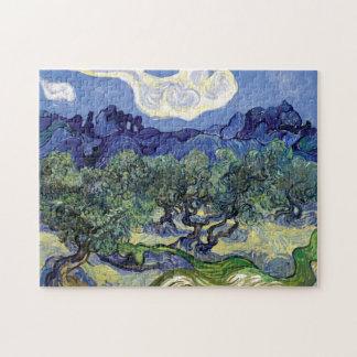 Van Gogh - olivos en un paisaje montañoso Puzzle Con Fotos