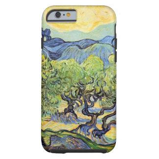 Van Gogh, olivos, impresionismo del poste del Funda De iPhone 6 Tough