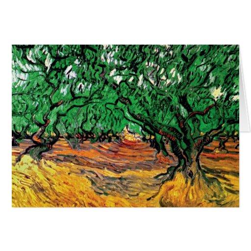 Van Gogh - olivos Tarjeta De Felicitación